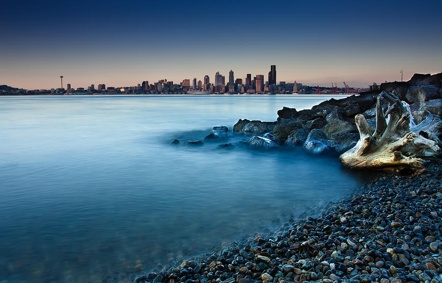 Dreamy Seattle Skyline Photograph