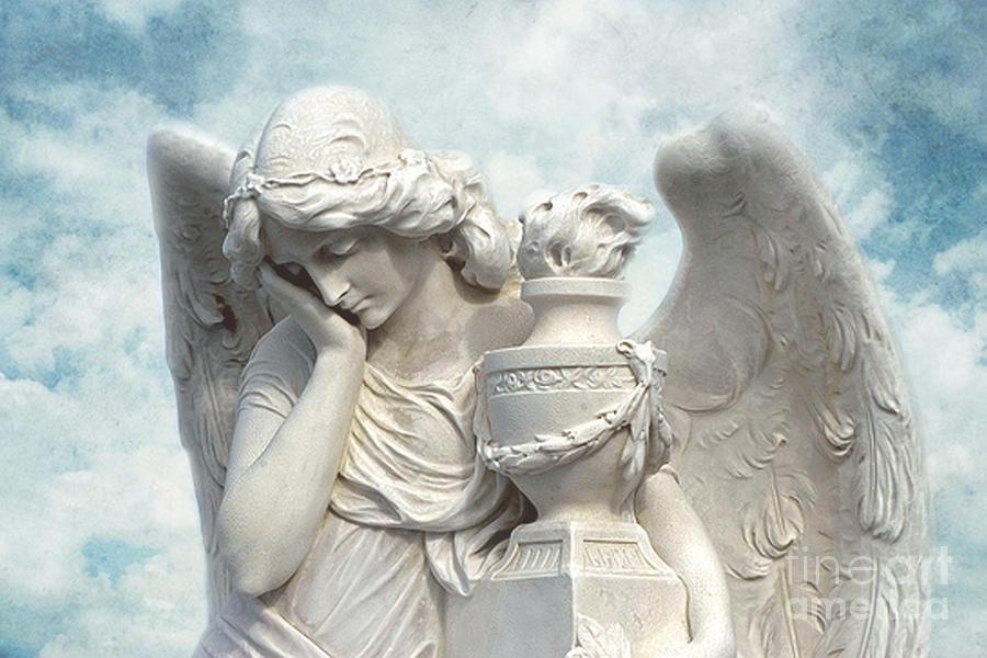 Dreamy Surreal Beautiful Angel Art Blue Sky Photograph