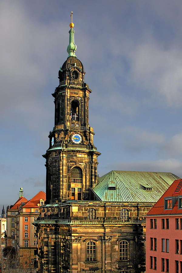 Dresden Kreuzkirche - Church Of The Holy Cross Photograph  - Dresden Kreuzkirche - Church Of The Holy Cross Fine Art Print