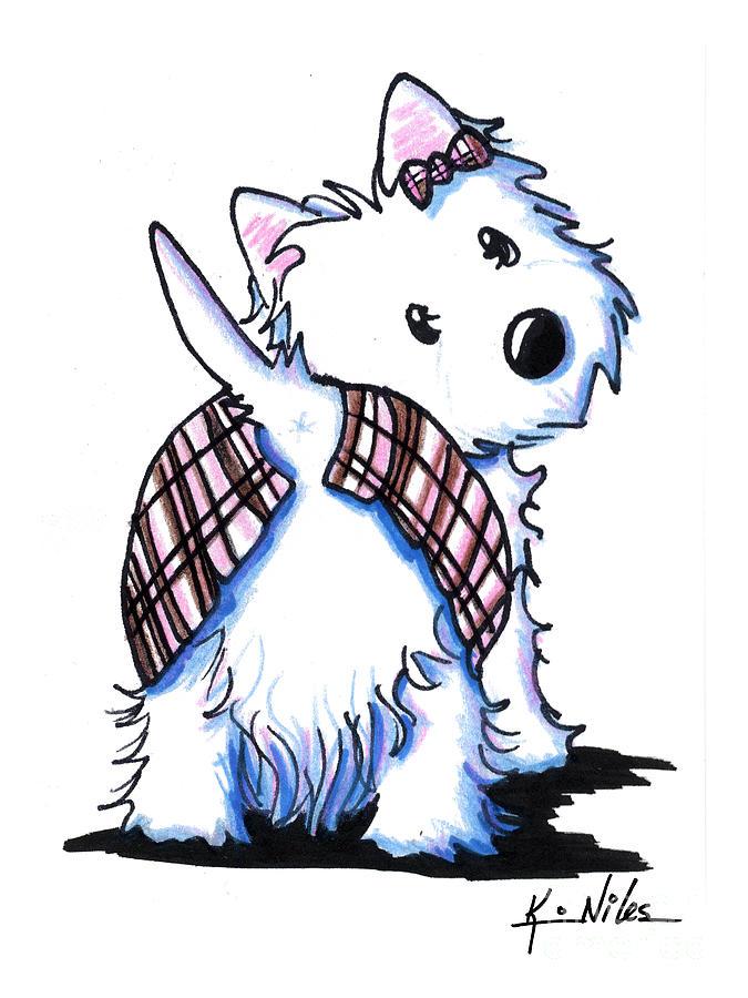 dressed to kilt westie by kim niles clipart westie dogs westie clip art free