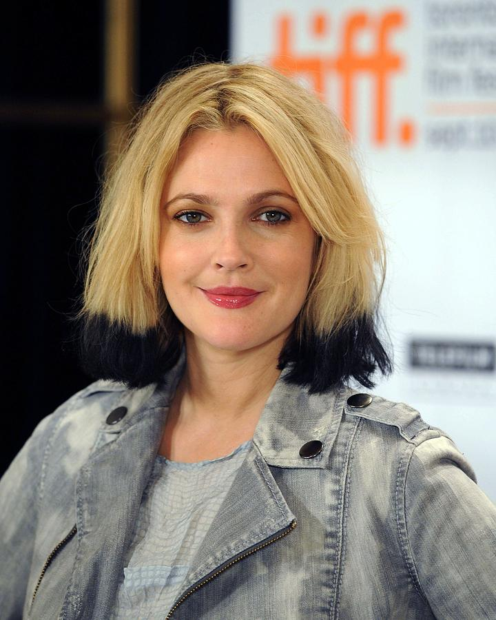 Drew Barrymore At The Press Conference Photograph