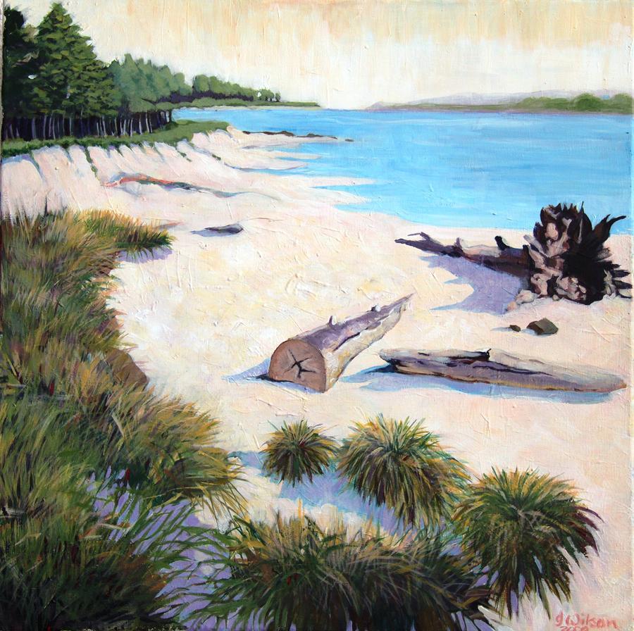 Driftwood Beach Oregon Painting
