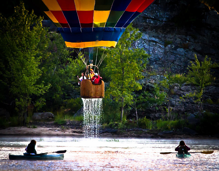 Dripping Wet  Hot Air Balloons Photograph
