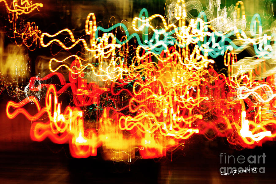 Abstract Design Photograph - Driving Home For The Holidays by Carol F Austin