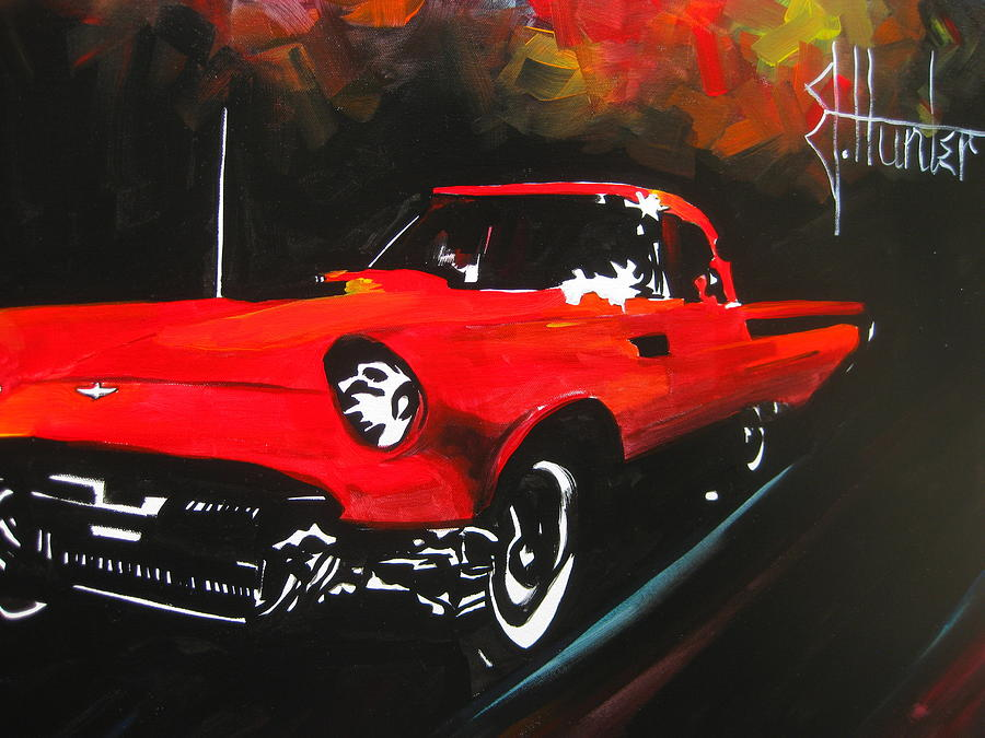 57 Painting - Driving In The Fall by Jeff Hunter