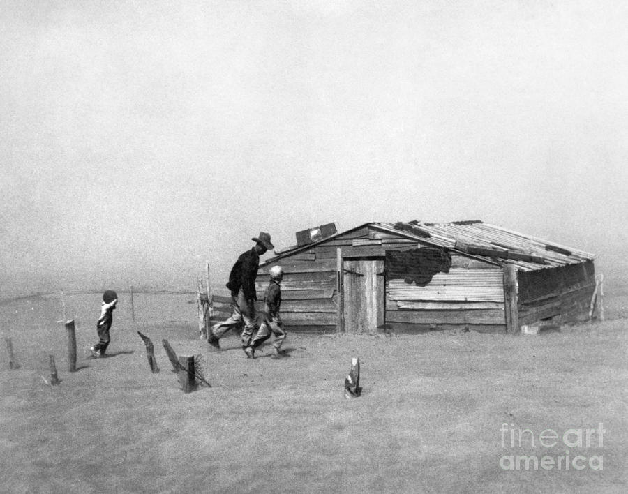 Drought: Dust Storm, 1936 Photograph  - Drought: Dust Storm, 1936 Fine Art Print