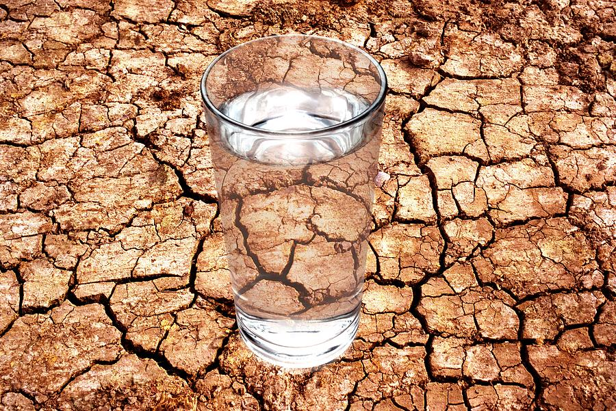 Glass Photograph - Drought by Victor De Schwanberg
