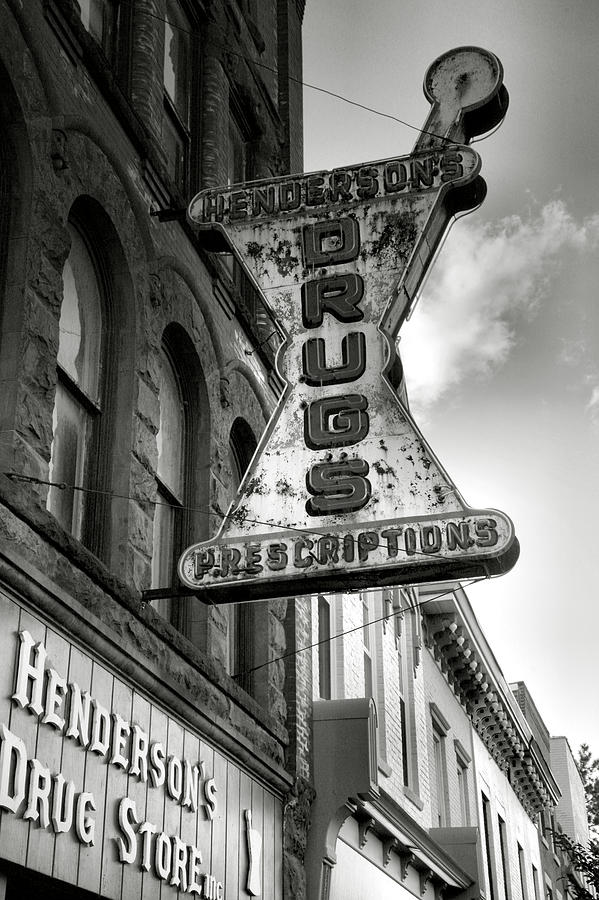 Drug Store Sign Photograph