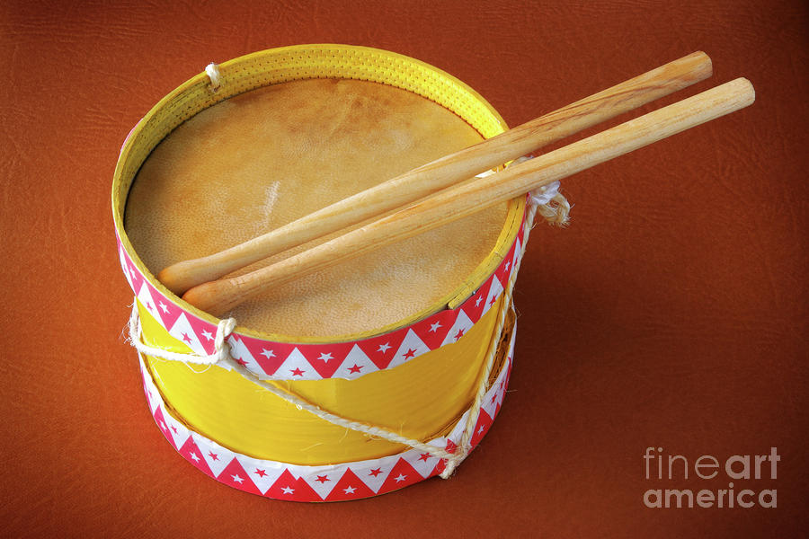 Drum Toy Photograph  - Drum Toy Fine Art Print