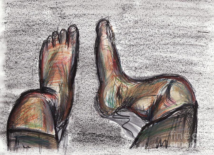 Drunk Feet Drawing