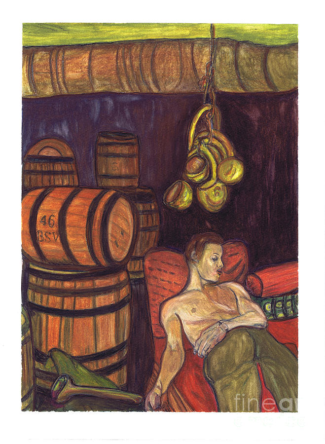 Drunken Arousal Painting  - Drunken Arousal Fine Art Print