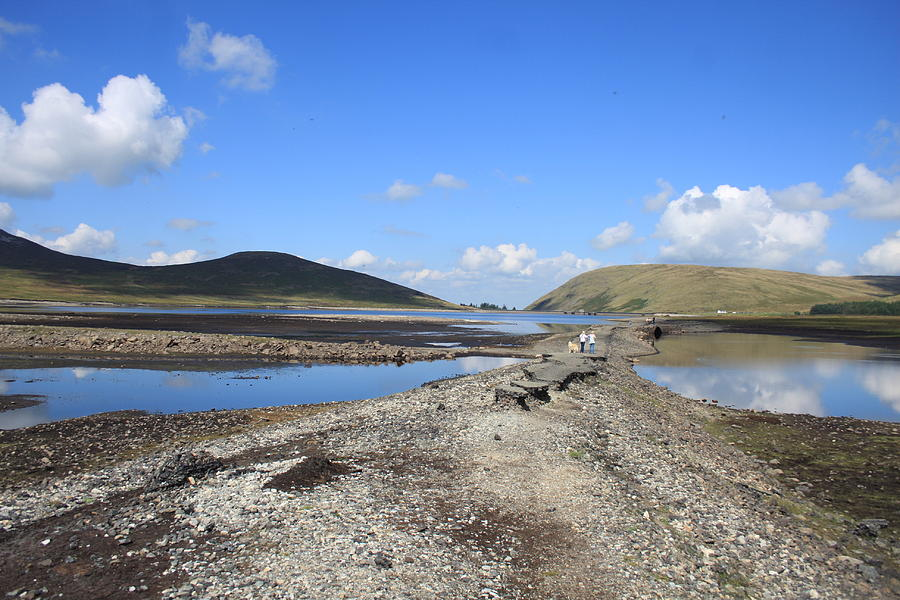 Dry Reservoir Pyrography - Dry Reservoir by Stephen Kennedy