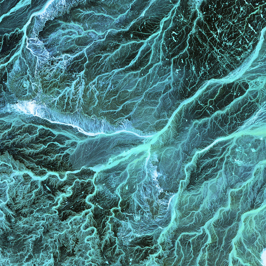 Dry River Beds, Satellite Image Photograph