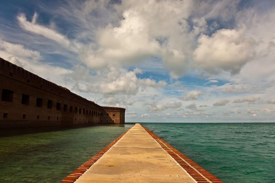 Dry Tortugas Sea Wall Photograph  - Dry Tortugas Sea Wall Fine Art Print