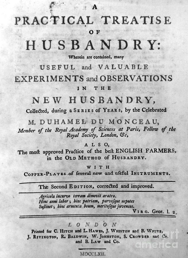 1762 Photograph - Du Monceau: Title Page by Granger