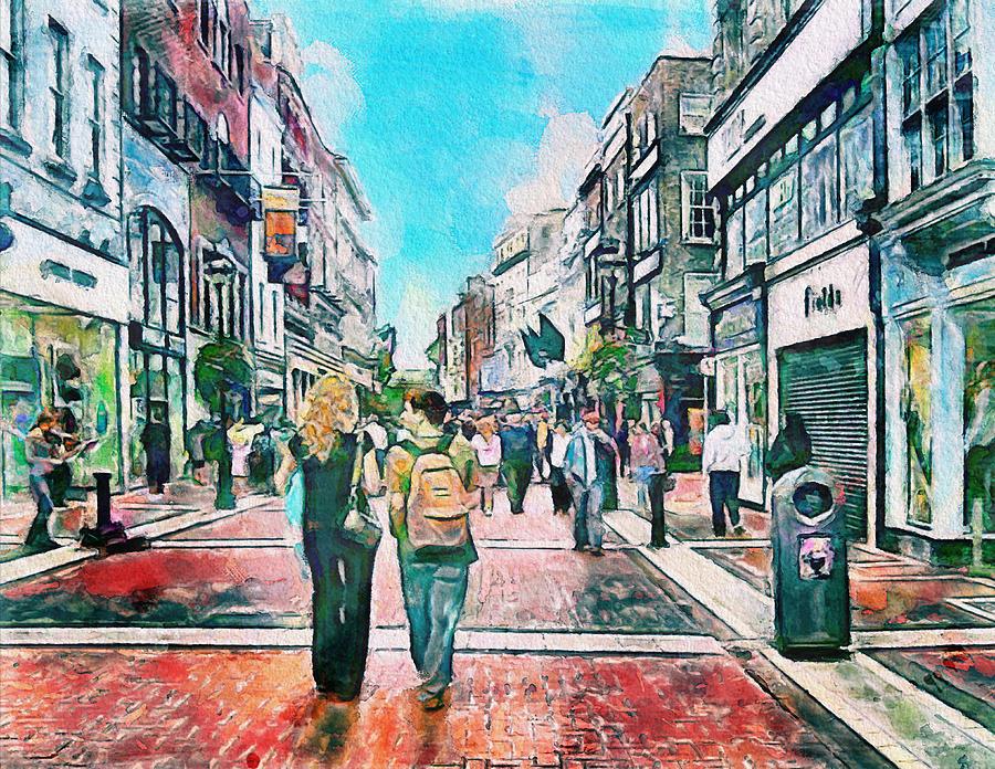 Dublin Grafton Street Photograph