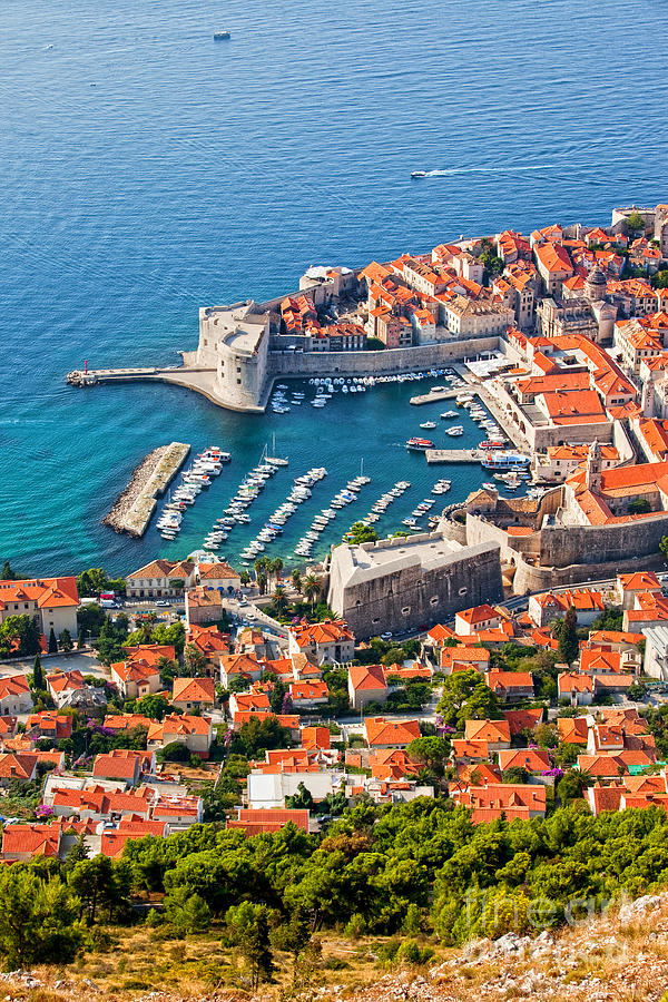 Dubrovnik From Above Photograph  - Dubrovnik From Above Fine Art Print