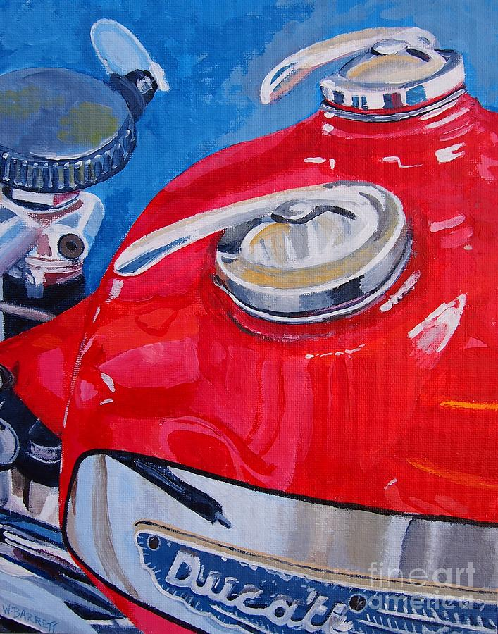 Ducati Single Painting  - Ducati Single Fine Art Print