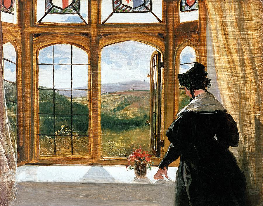 Duchess Of Abercorn Looking Out Of A Window Painting