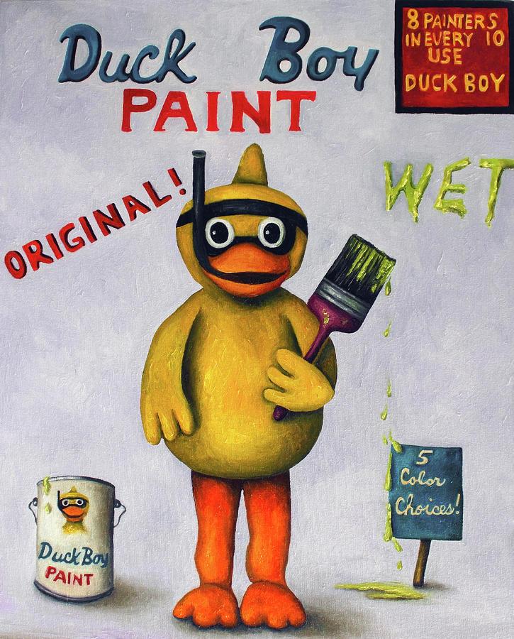 Duck Boy Painting