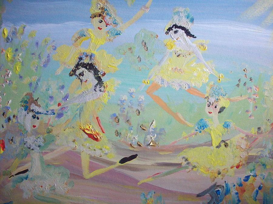 Duck Painting - Duck Dance by Judith Desrosiers