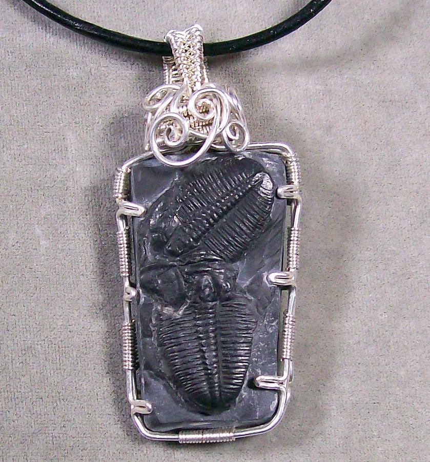 Heather Jordan Jewelry Jewelry - Dueling Duo Double Trilobite Pendant by Heather Jordan