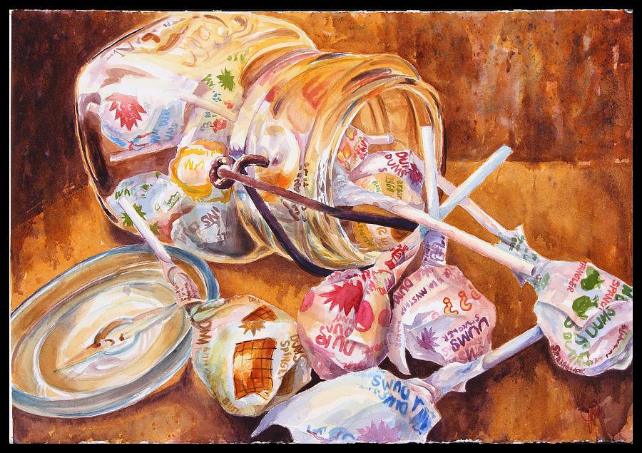 Suckers Painting - Dum Dum Thief by Jami Childers