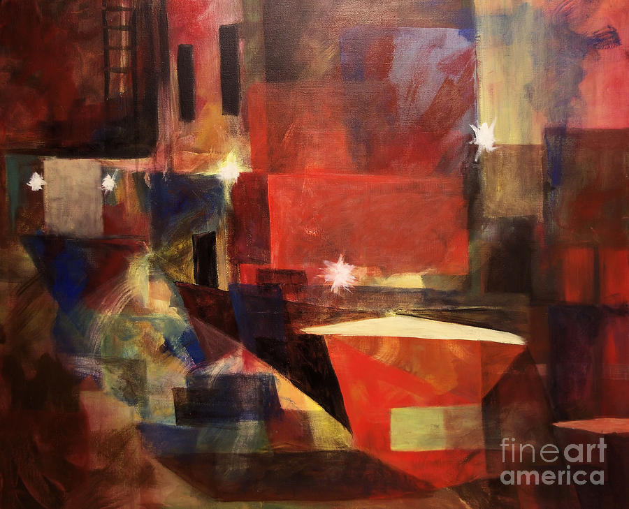 Dumpster - Sold Painting  - Dumpster - Sold Fine Art Print