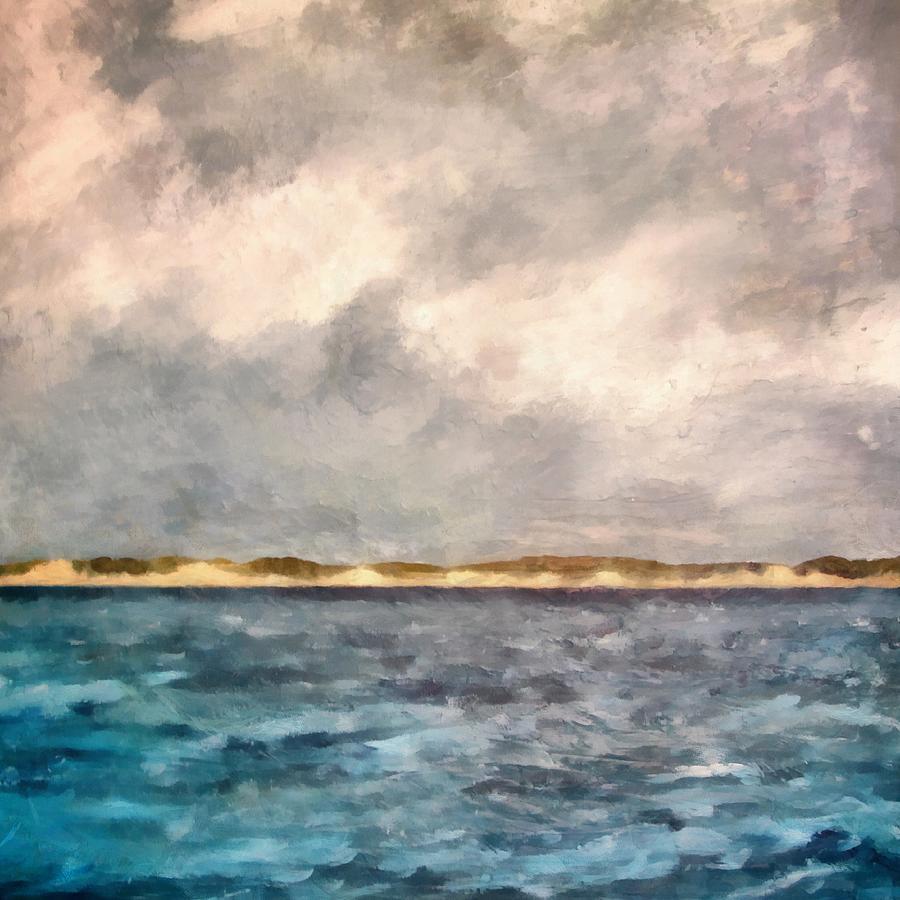 Dunes Of Lake Michigan With Rough Seas Painting