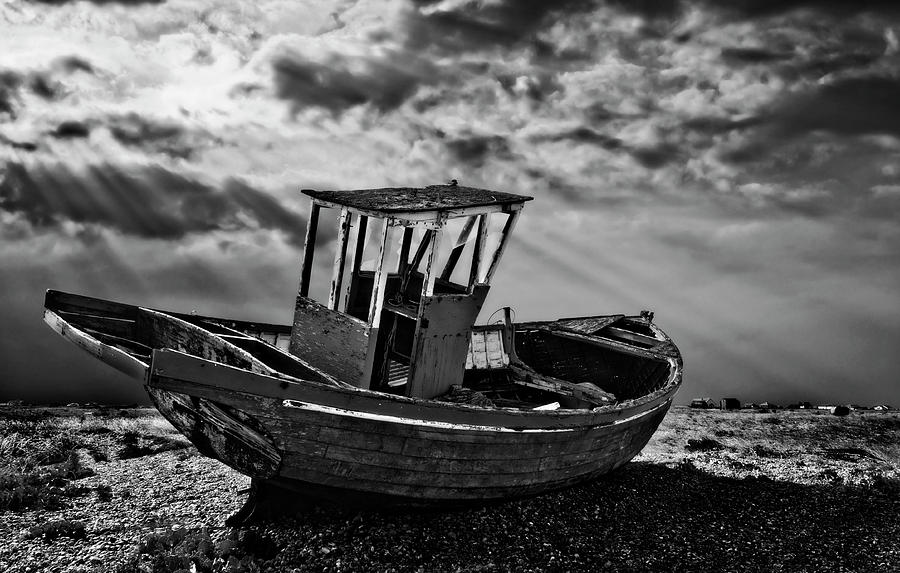 Dungeness In Mono Photograph