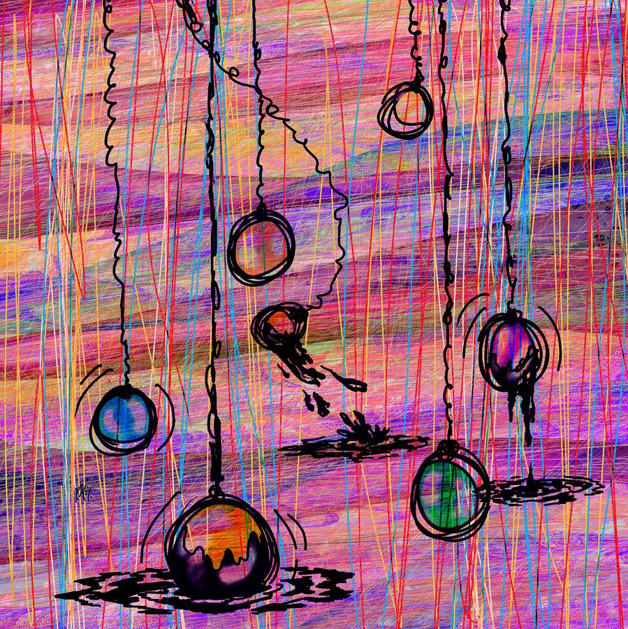 Dunking Ornaments Digital Art  - Dunking Ornaments Fine Art Print