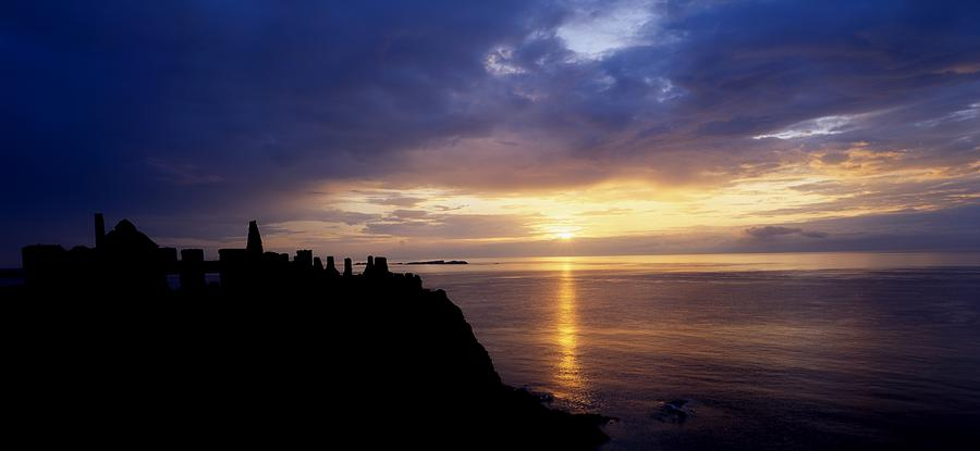 Dunluce Castle At Sunset, Co Antrim Photograph
