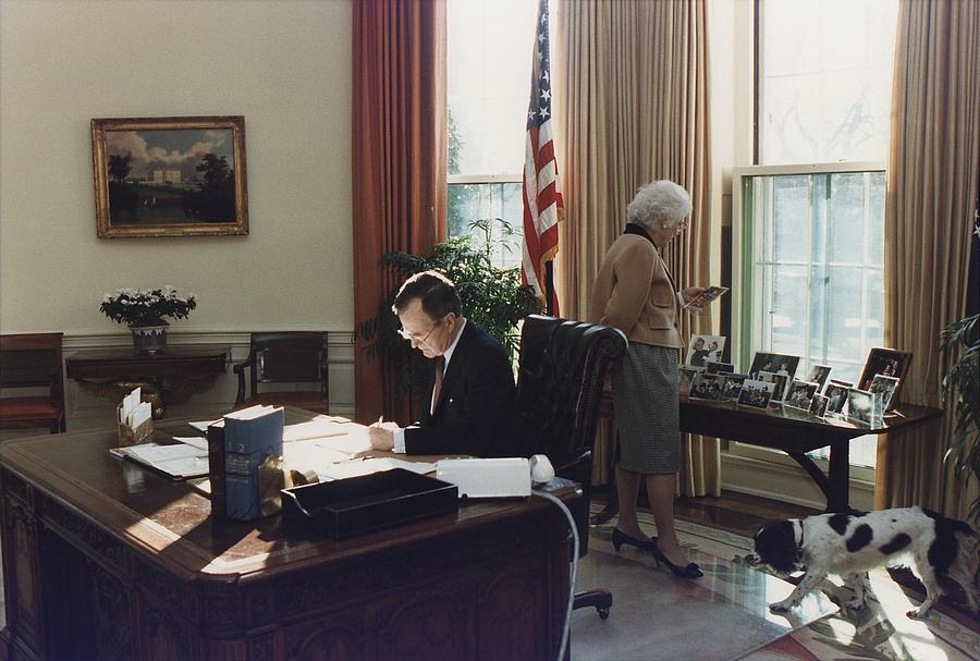 During His First Week As President Photograph