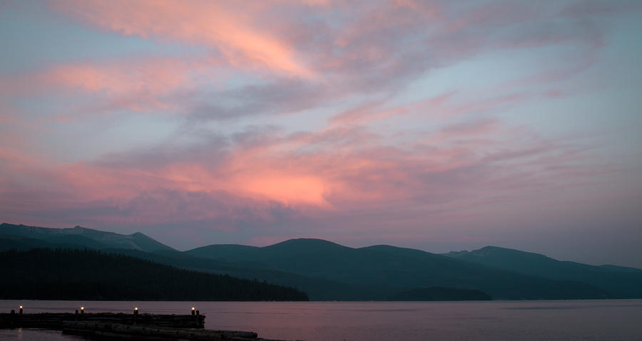 Dusk At Priest Lake Photograph