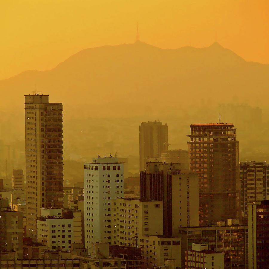 Dusk In Sao Paulo, Brazil Photograph