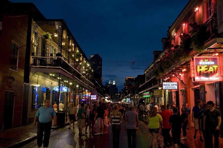 Bourbon Street Photograph - Dusk On Bourbon Street by Bourbon  Street