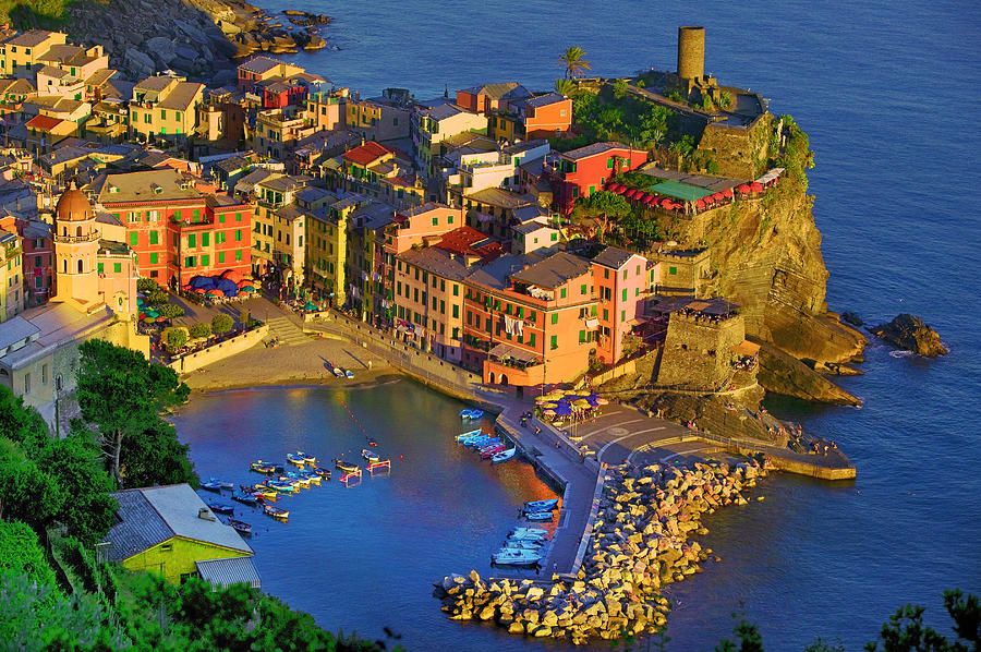 Dusk Vernazza Photograph By John Galbo