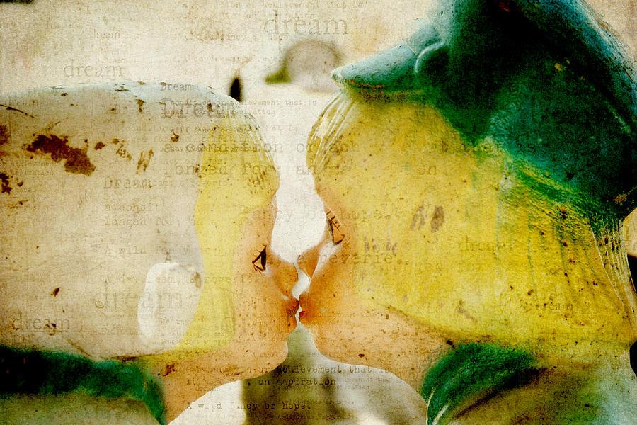 Textured Photograph  - Dutch Kids Dream by Toni Hopper