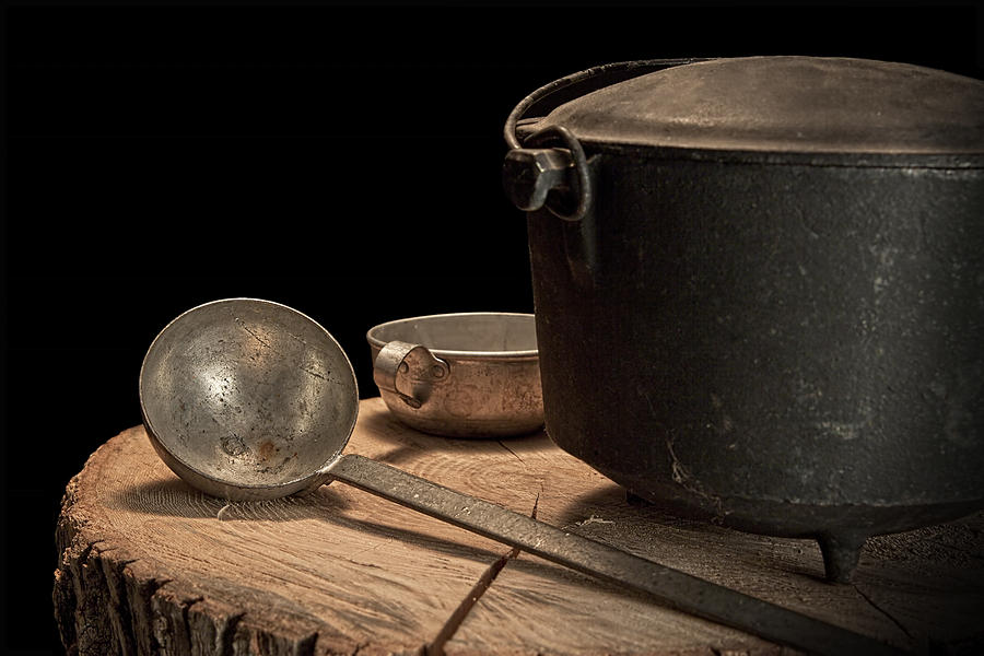 Dutch Oven And Ladle Photograph  - Dutch Oven And Ladle Fine Art Print