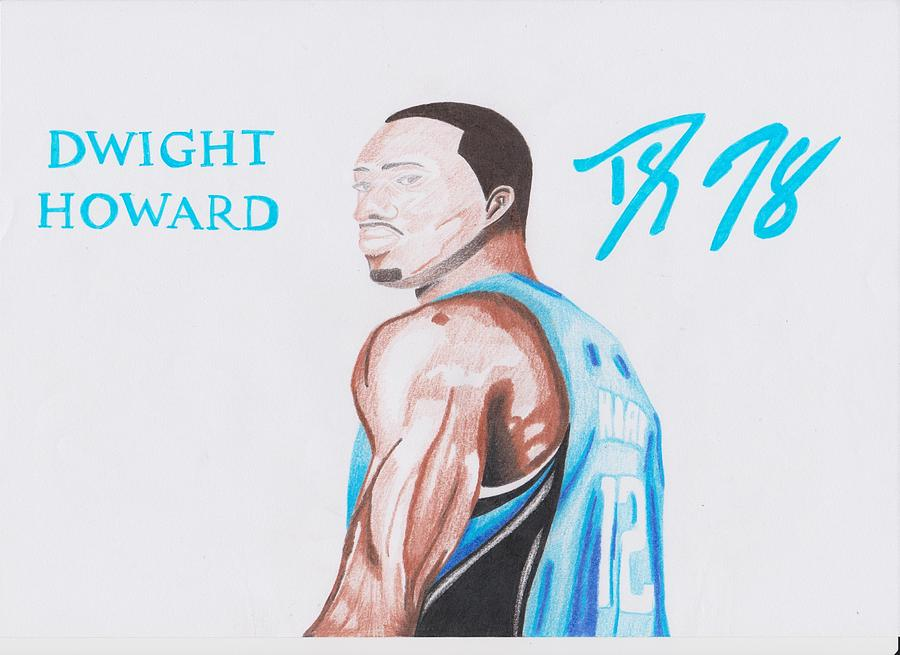 Dwight Howard Drawing  - Dwight Howard Fine Art Print