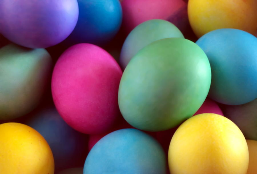 Dyed Easter Egg Abstract by Steve Ohlsen