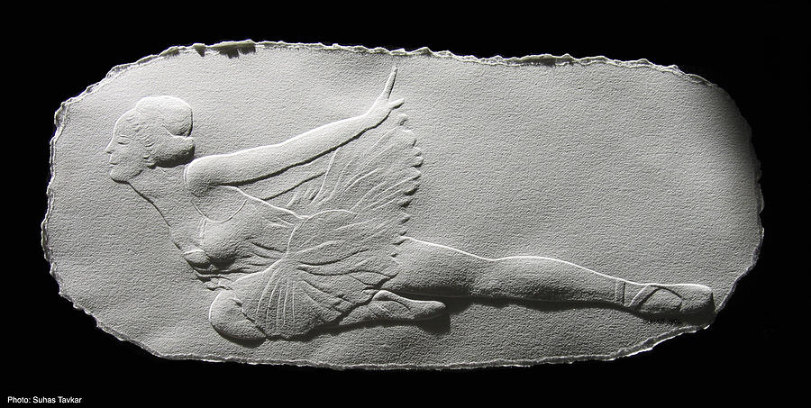 Ballet Dancers Relief - Dying Swan by Suhas Tavkar