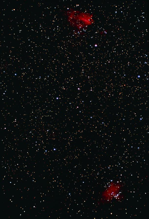 Eagle And Omega Nebulae Photograph