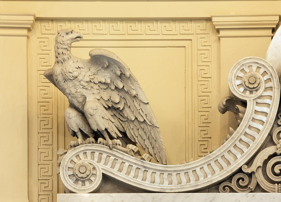 Eagle Architectural Detail In The James R Browning Courtroom San Francisco California Photograph