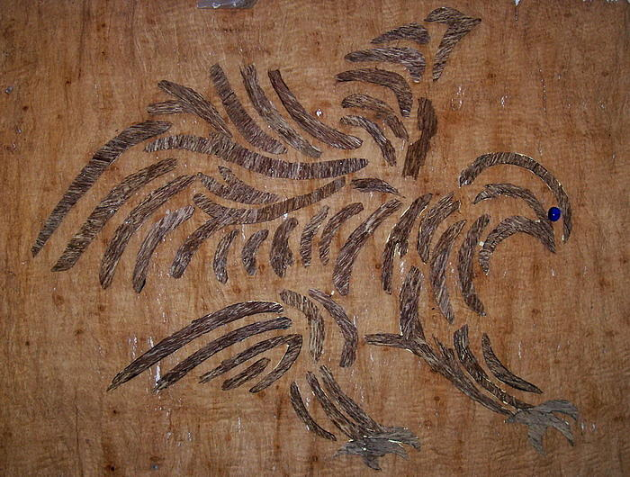 Eagle Tribal Of Agar Wood Relief