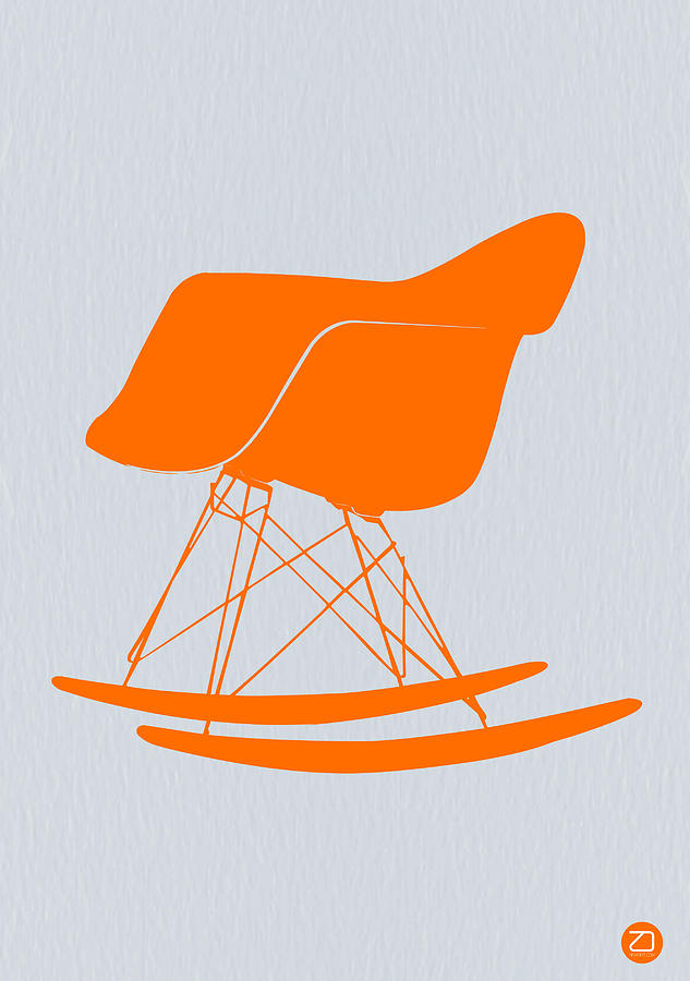 Eames Rocking Chair Orange Photograph
