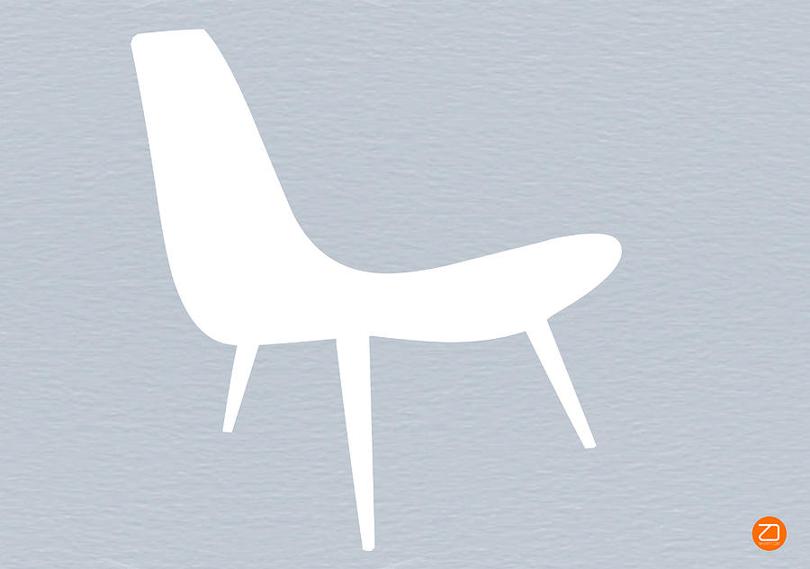 Eames White Chair Digital Art