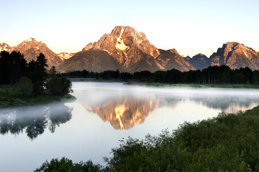 Early Morning Fog Oxbow Bend Photograph  - Early Morning Fog Oxbow Bend Fine Art Print