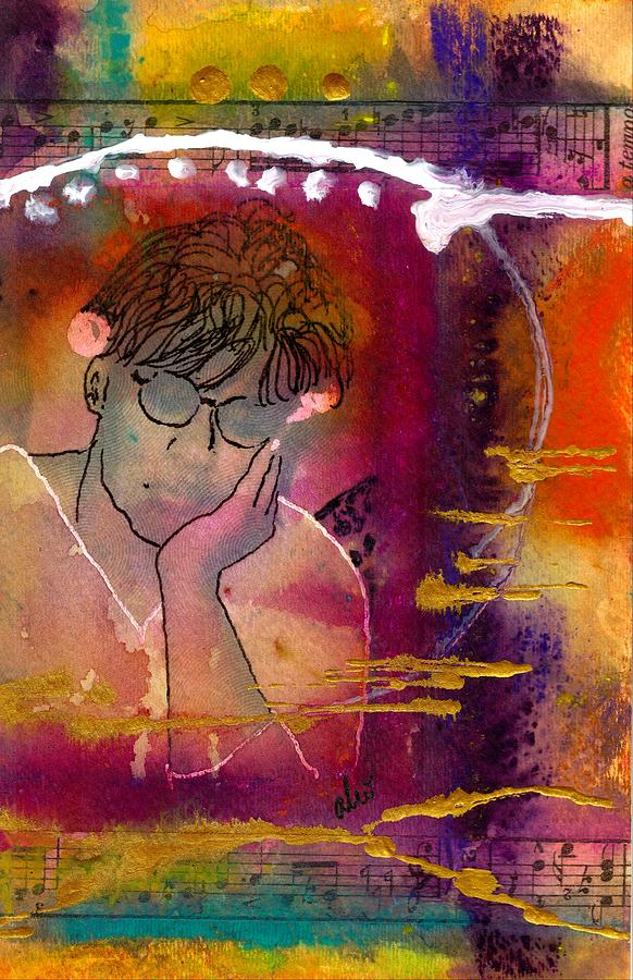 Early Morning Songwriter Mixed Media  - Early Morning Songwriter Fine Art Print
