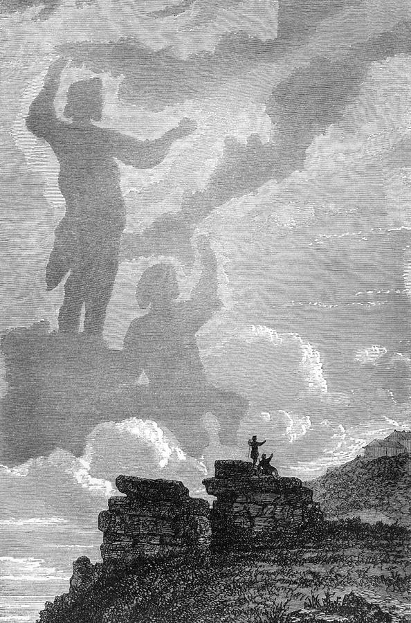 Brocken Spectre Photograph - Early Sighting Of Brocken Spectres, 1797 by